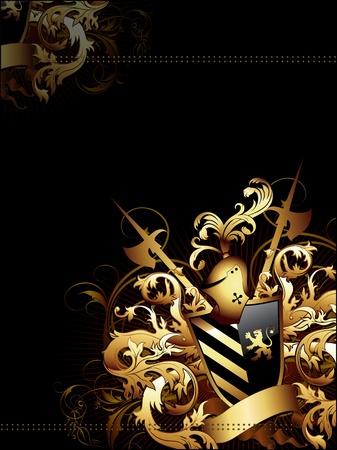 halberd: coat of arms background