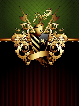escudo de armas: marco adornado con el escudo de armas