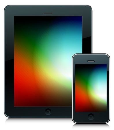 tablet and phone Vector