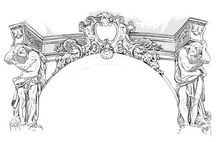 friso: dibujo antiguo