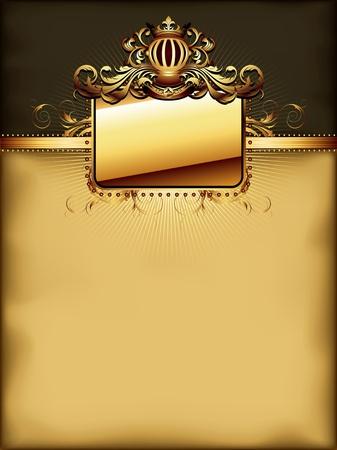 ornate golden frame Ilustrace