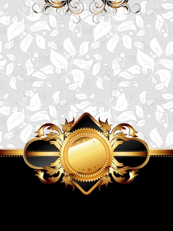 ornate golden frame Stock Vector - 13231749