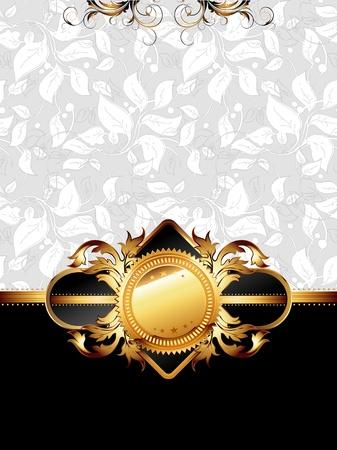 ornate golden frame Stock Vector - 13231749