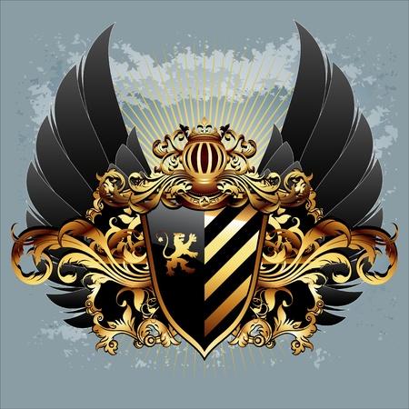 coat of arms: sghield ornamentales