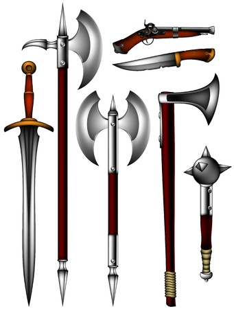 mace: set of ancient weapon