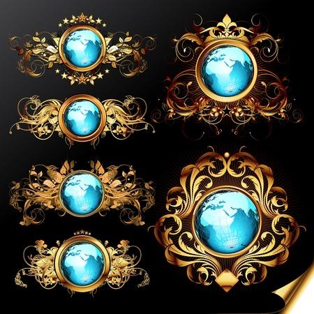 world frames set Stock Vector - 13530242