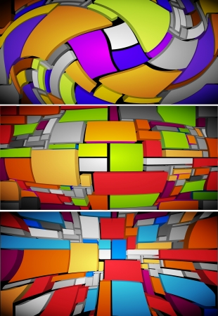 shreds: abstract background Illustration