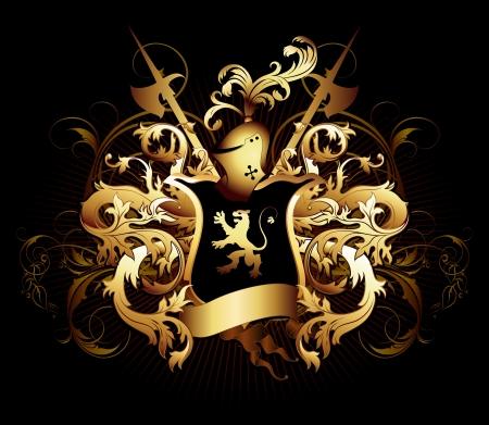 alabarda: scudo ornamentale
