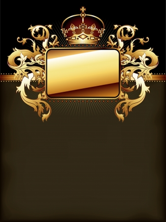 ornate golden frame Stock Vector - 14353651