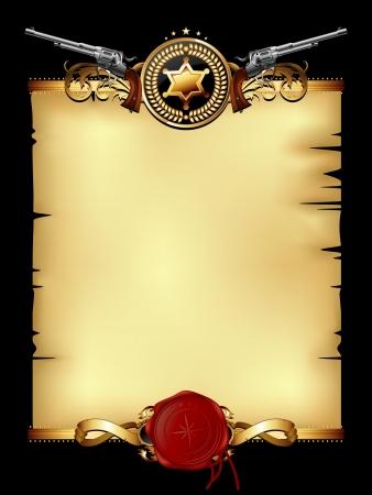 estrellas  de militares: papel con el sello de la cera y las armas