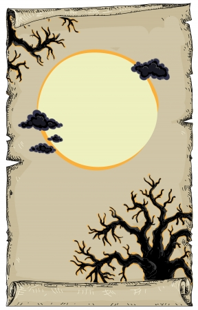 fairytale background: halloween Illustration