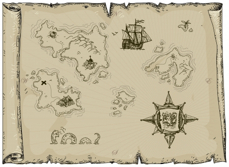 land mark: antiguo mapa