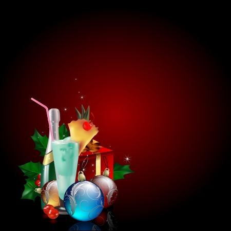 winter cherry: christmas background