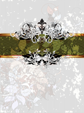 graphic backgrounds: ornate frame