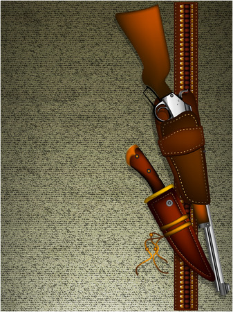 holster: ornate frame with arms