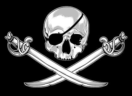 skull and cross bones: Jolly Roger