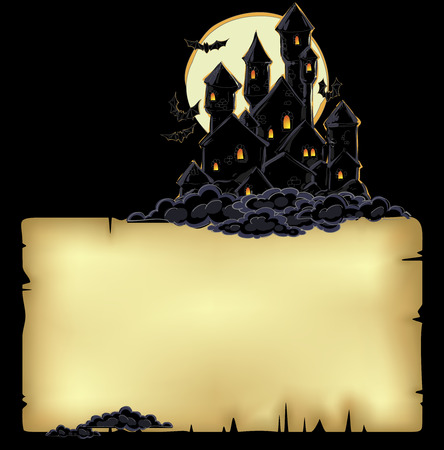 paper background with castle Vector