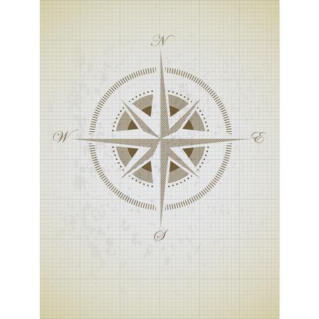 compas de dibujo: brújula Vectores
