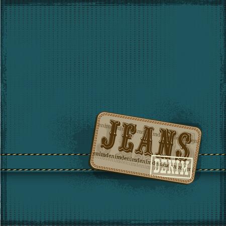 backstitch: textile texture jeans background