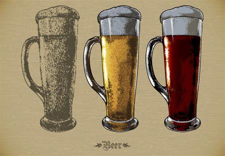 brewery  hops: beer set