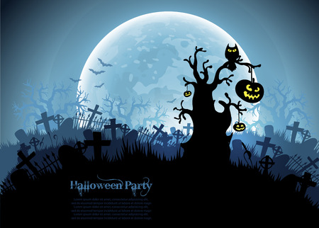 fairytale background: Halloween background