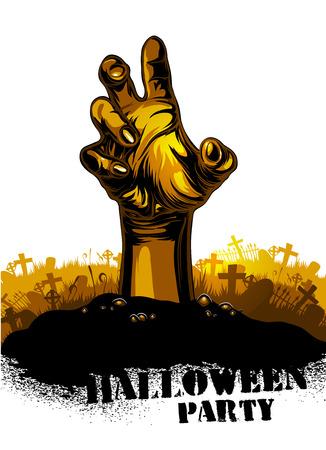 hand torn: Halloween background