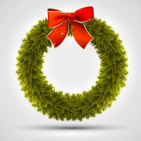felicitation: christmas wreath design