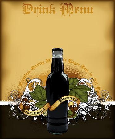 brewery  hops: beer menu Illustration