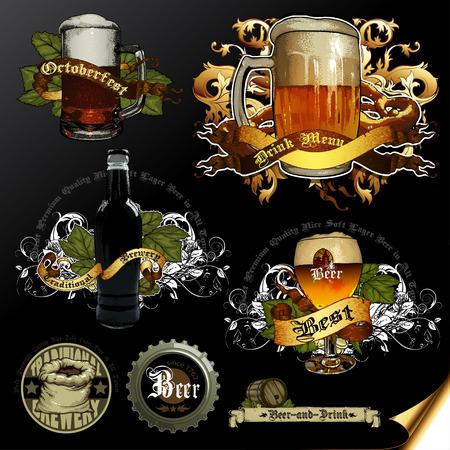 tankard: set of beer icons