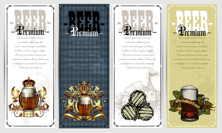 tankard: set of beer labels
