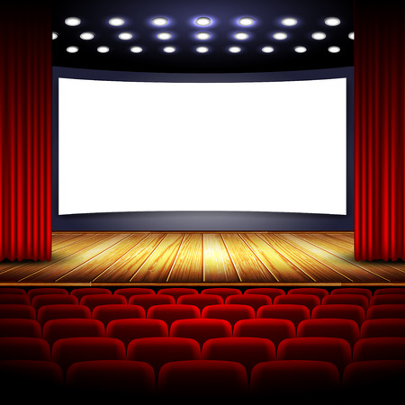curtain to theater stage: cinema
