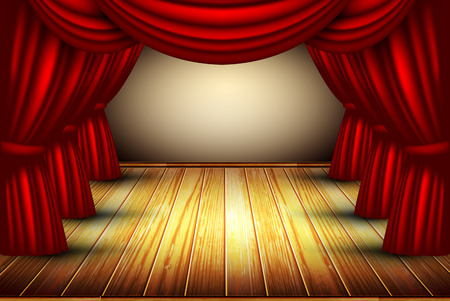 staging: theater stage Illustration