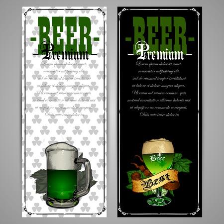 stpatrick: beer menu design for St.Patrick day