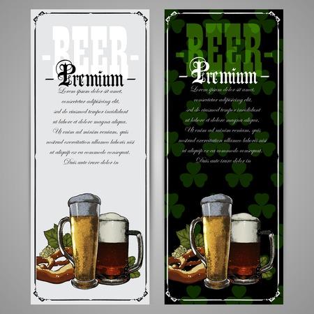beer background: brasserie menu in the St. Patrick Illustration