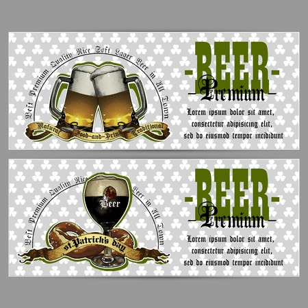 brewery  hops: brasserie menu in the St. Patrick Illustration