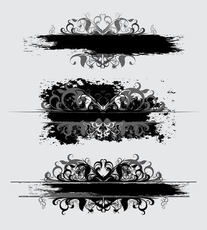 ornamental elements: set of ornamental elements Illustration
