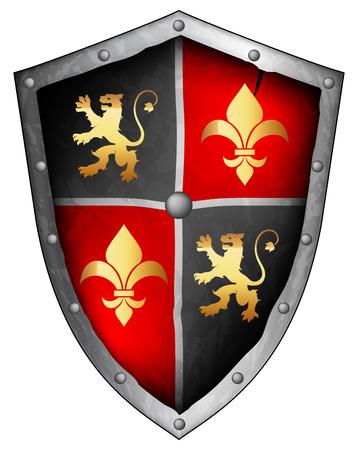medieval shield Vector