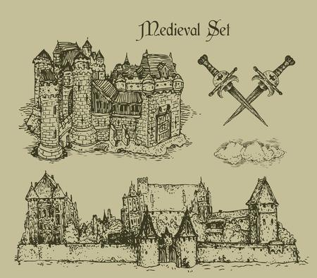 espadas medievales: castillos medievales