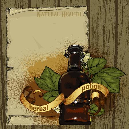 medicine bottles: natural herbs