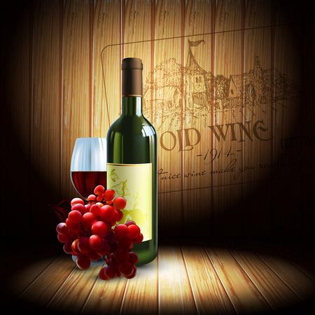 chateau: wine and grapevine