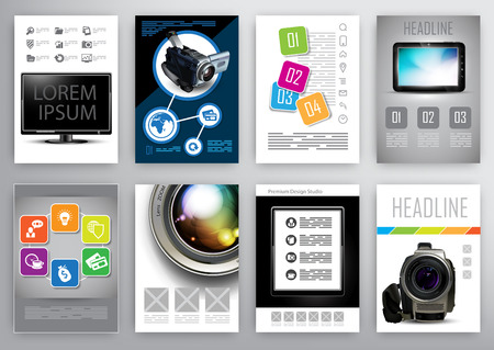 product design specification: design templates for  flyers, brochures and booklets