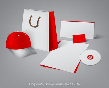 articulos oficina: plantillas de dise�o para el desarrollo de art�culos de oficina de la marca Vectores