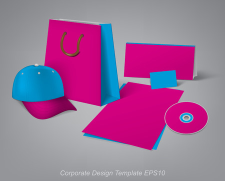 articulos de oficina: plantillas de diseño para el desarrollo de artículos de oficina de la marca Vectores