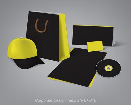 articulos oficina: plantillas de diseño para el desarrollo de artículos de oficina de la marca Vectores