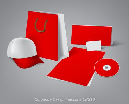 articulos de oficina: plantillas de dise�o para el desarrollo de art�culos de oficina de la marca Vectores