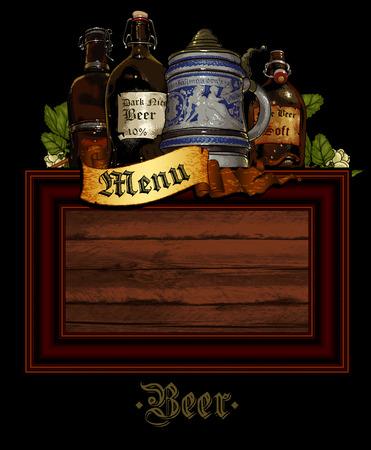 beer drinking: beer background