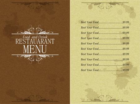 Design Template restaurant food and drink menu