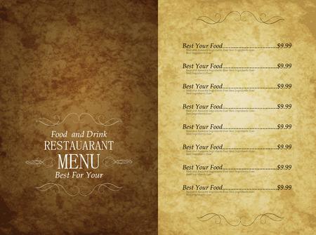 menu de postres: Diseño Plantilla de la comida del restaurante y menú de bebidas Vectores