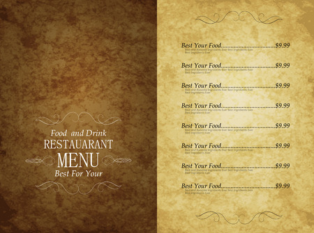 Design Template restaurant food and drink menu