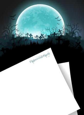 Halloween party invitations Illustration
